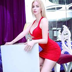Milanija supermodel escort Frankfurt meet for a kinky striptease with escort service at short notice